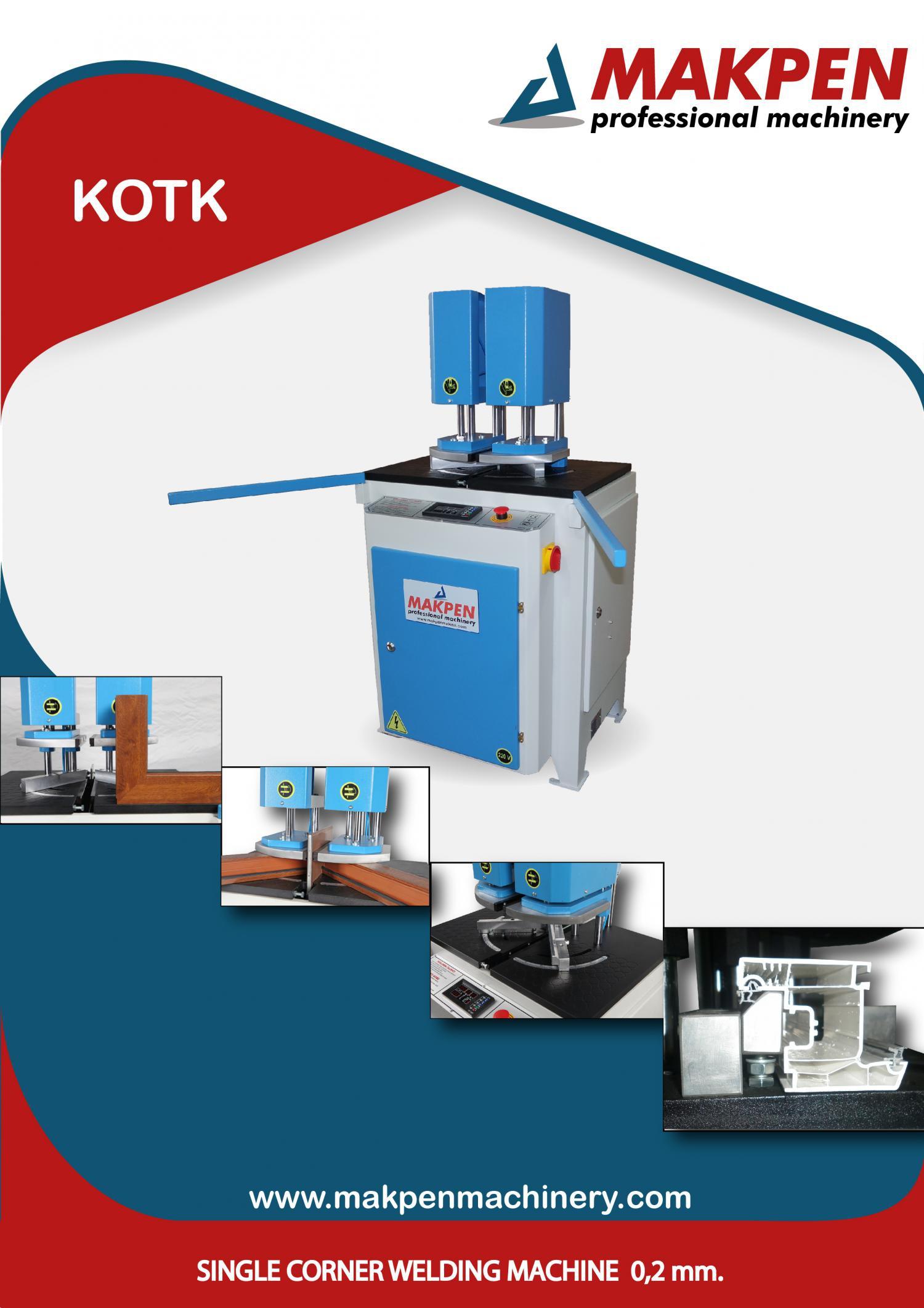 KOTK Автоматический одноголовочный сварочный станок для ПВХ