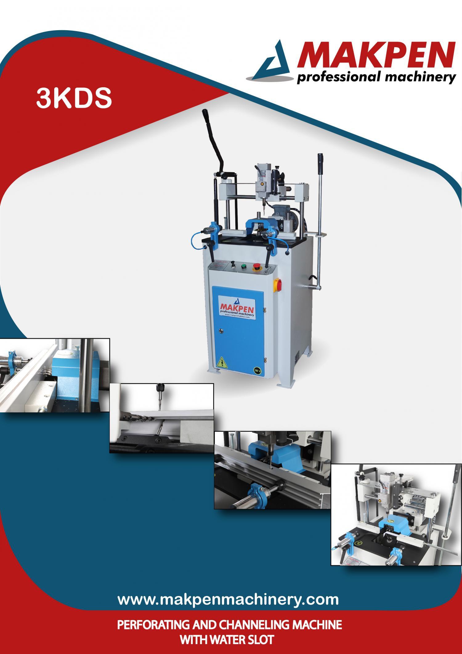 3KDS - Копировально- фрезерный станок для водоотвода отверстий под ручки и замки с тройным сверлением
