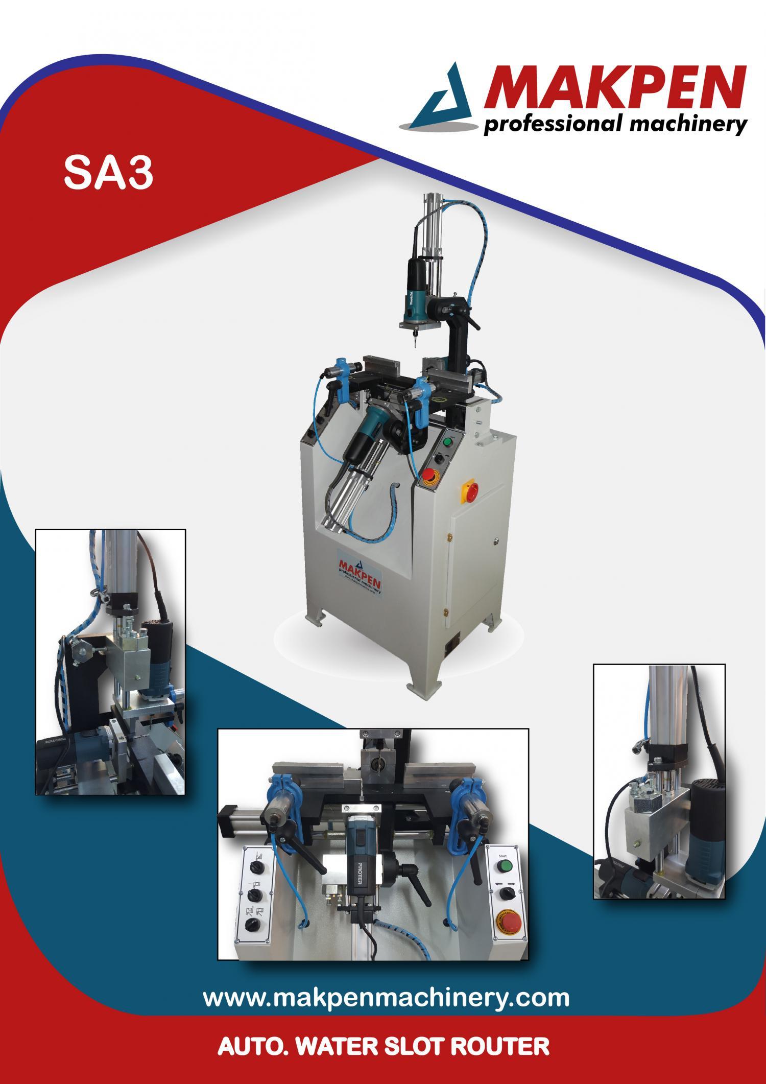 SA3- Автоматический станок с тройным сверлением водосточных каналов