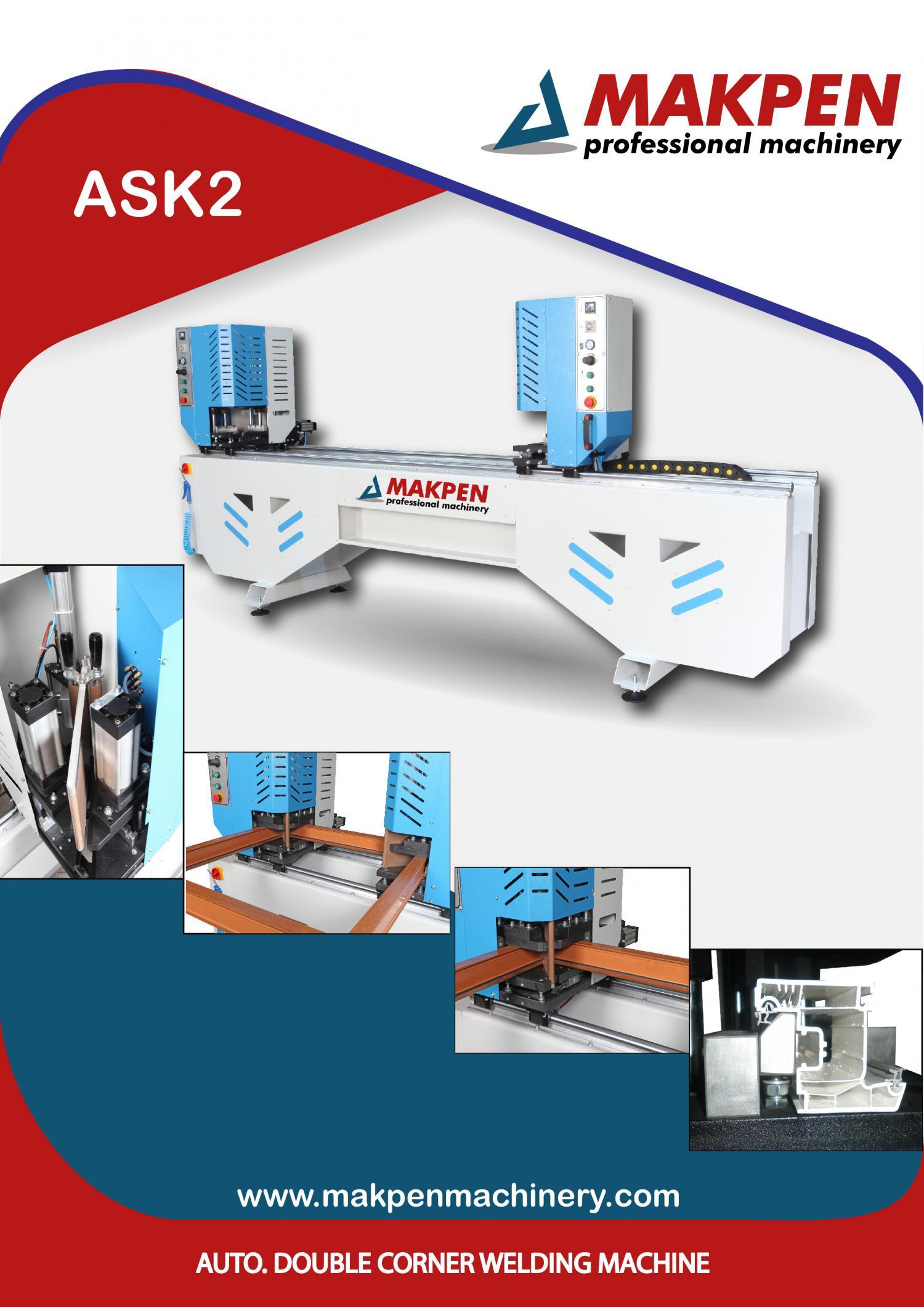 ASK2 Автоматический двухголовый сварочный станок 0,2 мм